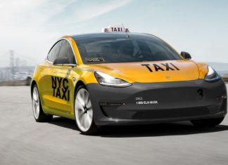 tesla modèle 3 version taxi américain